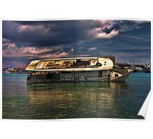 Paradise Island Shipwreck Poster