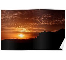 Red Hot Sunrise  Poster