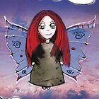 Girl Quirky Butterfly by Sarah Baron