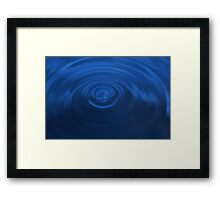 Deep Blue Ripples Framed Print