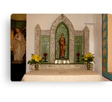 Sacred Heart Church - Altar and Statuary Canvas Print