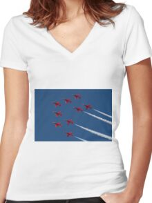 Red Arrows ! Women's Fitted V-Neck T-Shirt