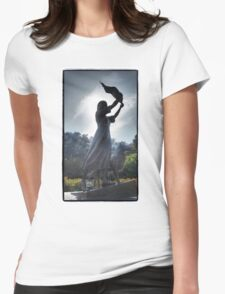 Waving Girl Womens Fitted T-Shirt