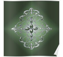 Damask in Green Poster
