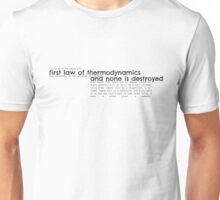 First Law of Thermodynamics Unisex T-Shirt