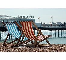 Classic Deck Chairs 2 Photographic Print