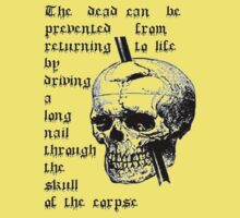 Driving A Long Nail Through The Skull Of A Corpse One Piece - Short Sleeve