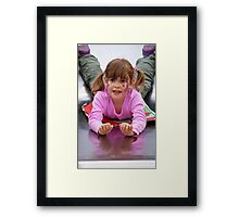 Sliding Joy Framed Print