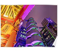 Leadenhall and Lloyds Building - Leadenhall Market Series - London - HDR  Poster