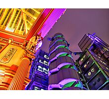 Leadenhall and Lloyds Building - Leadenhall Market Series - London - HDR  Photographic Print