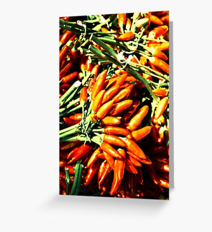 Spicy fingers Greeting Card