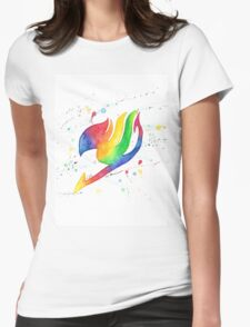 """""""Rainbow Fairy"""". Womens Fitted T-Shirt"""
