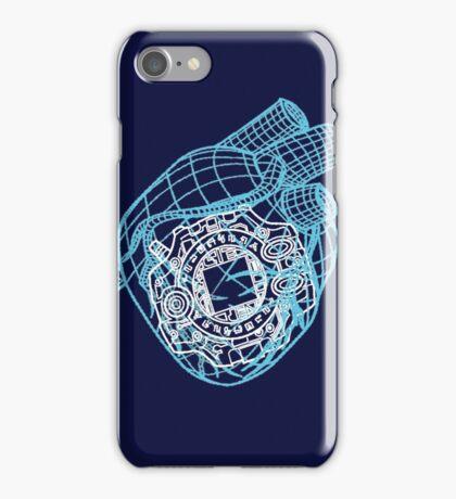 Digital Heart (Blue) iPhone Case/Skin