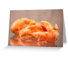 Fresh deformed carrot roots Greeting Card