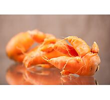Fresh deformed carrot roots Photographic Print