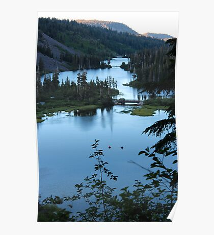 Twin Lakes Mammoth California from Twin Falls Poster