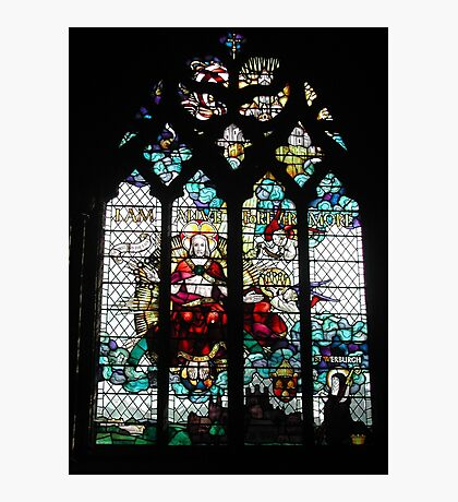 Stained Glass Window in Chester Cathedral Photographic Print