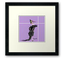 MADAME BUTTERFLY IN BLACK Framed Print