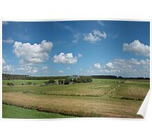 Typical Dutch Polder Landscape Poster