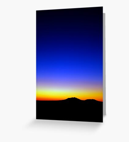 Lost in the sunset Greeting Card