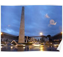EUR Obelisk (Rome) with Seward Johnson Sculpture Poster