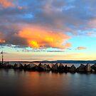 Lake Illawarra Break Wall by Ryan Conyers