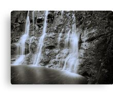 Filaments of water - waterfall in Glenariff, Co. Antrim Canvas Print