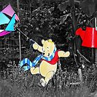 Pooh's Colorful Garden Dance by Bine