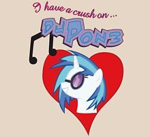 I have a crush on... DJ Pon3 - with text Unisex T-Shirt