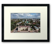 Vologda aerial view Framed Print