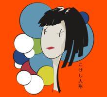 japanese kokeshi doll character 2 Kids Tee