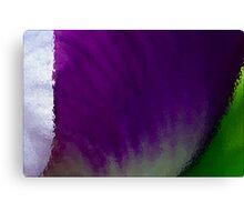 Iris Macro Tricolor Canvas Print