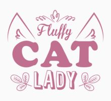 Fluffy cat lady (long hair kitty cute!) Kids Tee