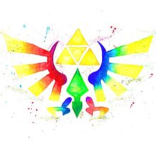 """""""Royal Crest Symbol"""" from the videogame the Legend of Zelda by Nintendo. by LemGeekArt"""