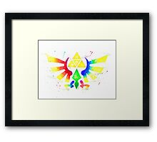 """Royal Crest Symbol"" from the videogame the Legend of Zelda by Nintendo. Framed Print"