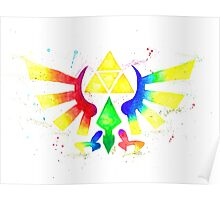 """Royal Crest Symbol"" from the videogame the Legend of Zelda by Nintendo. Poster"