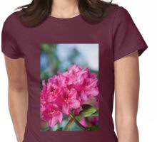 Azalea plant bright pink flowers Womens Fitted T-Shirt