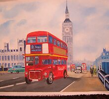 The Big Red London Bus by sueangel