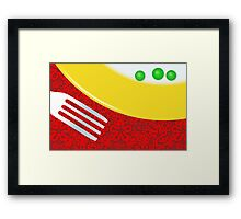 Eat Your Peas Framed Print