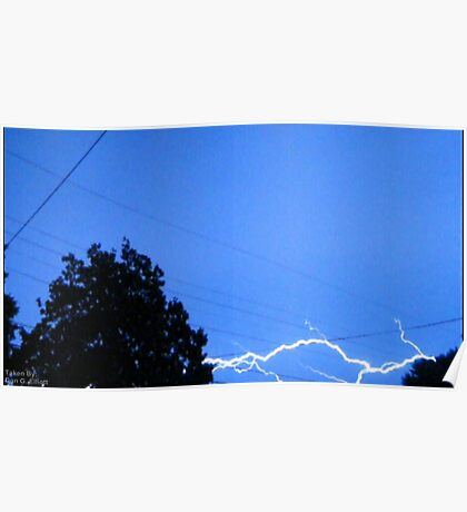 Blue Bolt Poster