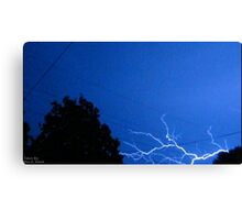 Blue Lightning Canvas Print
