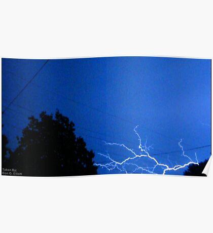 Blue Lightning Poster