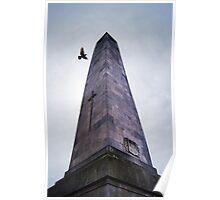 Overcast Cenotaph - Harrogate Poster