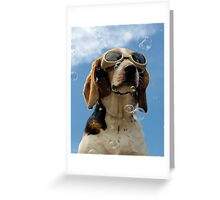 Hound amongst the bubbles Greeting Card