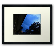 Sneaky Supercell  Framed Print