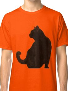 Halloween Black Cat Silhouette Classic T-Shirt