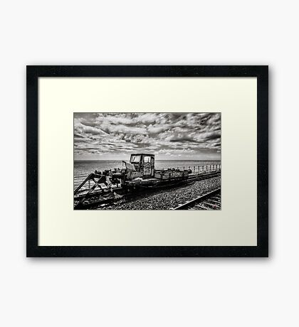 Off the Rails Framed Print