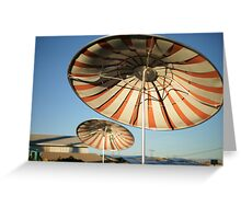 patio umbrellas Greeting Card