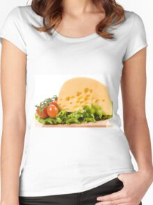 cherry tomatoes and yellow cheese Women's Fitted Scoop T-Shirt
