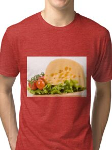 cherry tomatoes and yellow cheese Tri-blend T-Shirt